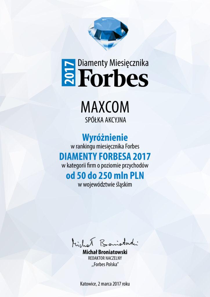 FORBES DIAMONDS RANKING 2017
